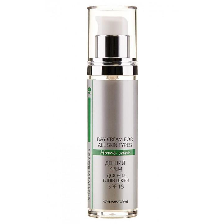 Дневной крем для лица для всех типов кожи Green Pharm Cosmetic