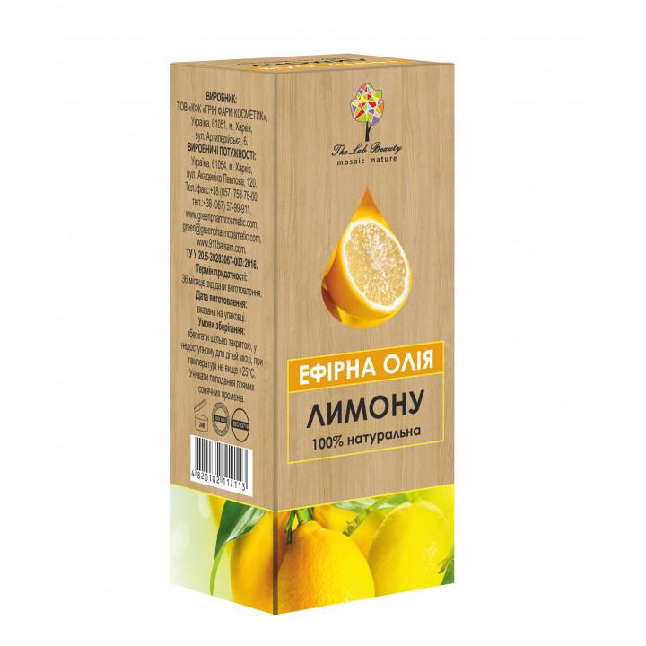 Эфирное масло лимона The Lab Beauty, 10 мл