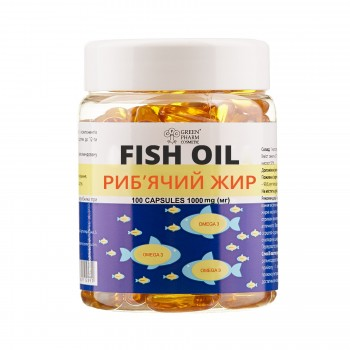 Добавка дієтична до раціону харчування «Риб'ячий жир», 1000 мг