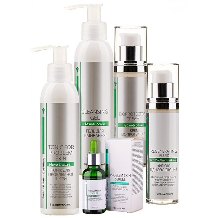 Набор для кожи с проявлением купероза и высыпаниями Green Pharm Cosmetic